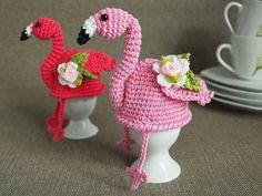 Häkelanleitung Eierwärmer Flamingo