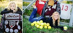 Don't forget to pose with all those home run balls you hit during your senior photo session.