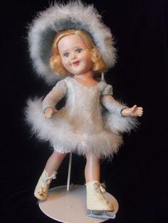VINTAGE 1948 OLYMPIC GOLD MEDAL FIGURE SKATING DOLL BARBARA ANN SCOTT / ORIG BOX
