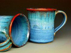 Blue Mug  Ceramic Coffee Mug by darshanpottery on Etsy, $20.00: