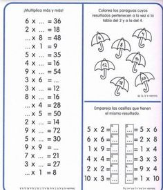 Cuaderno tablas de multiplicar (27) Multiplication Facts Worksheets, Kids Math Worksheets, Math Resources, Multiplication Sheets, Fractions, Math Games, Math Activities, Math Exercises, Teachers Corner