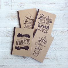 Notebooks designed by Papemelroti