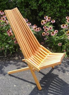 Handsome Folding Stick Chair Linseed Oil by TheReclaimedPeddler