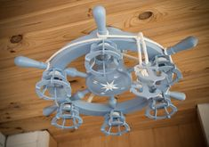 Nautical Chandelier, Wooden Chandelier, Chandelier Ceiling Lights, Nautical Fashion, Light Fixtures, The Help, Bulb, Etsy, Style