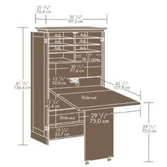 Wow. Just wow. Scrapbook storage. Folds up into a cabinet. $1495 ...