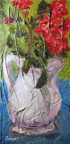 """Knockout Roses"" - Original Fine Art for Sale - © Susan E Jones"