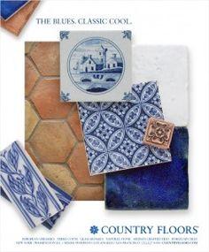 Elle Decor March The Blues. Blue Tiles, Wet Bars, Elle Decor, Floral Motif, Crafts To Make, Modern Decor, Mosaic, Blues, Decorative Boxes