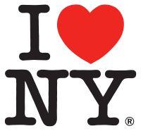 "Milton Glaser's ""I love New York"".  The much imitated original."