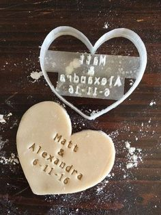Wedding Heart Cookie Stamp. Only $16! Maybe for making wedding favor cookies? #WeddingFavorIdeas