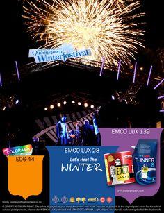 Kawan EMCO, Queenstown Winter Festival menjadi pesta paling besar di Selandia Baru dan merupakan pesta terbesar musim dingin dibelahan bumi selatan. Tuangkanlah karya-karya Anda terinspirasi dari kemeriaahan Queenstown Winter Festival dengan cat pilihan warna EMCO LUX 28, EMCO LUX 139 dan E06-44 palet EMCO. Jadikanlah yang biasa menjadi luar biasa bersama EMCO. Untuk artikel menarik lainnya kunjungi kami di http://matarampaint.com/news.php