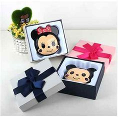 Power Bank 6000mAh Mini Mickey Mouse Mobile Charger Android Backup Battery Gift