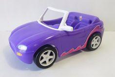 Vintage 1996 Mattel Barbie Purple Convertible Car Vehicle    #Mattel