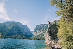Couple standing on boulder at Grand Teton National Park Grand Teton National Park, National Parks, Beautiful Stories, Beautiful Places, Teton Mountains, Whitewater Rafting, Engagements, Outfit Ideas, Couple