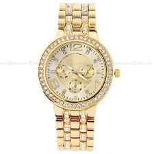 GENEVA Women Lady Fashion Luxury Gold Dial Crystal Quartz Rhinestone Wrist Watch