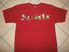 PEANUTS CHRISTMAS T SHIRT Charlie Brown Snoopy Tree Linus