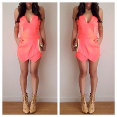 shoes from www.amiclubwear.com   Romper- @charlotterusse.