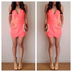 shoes from www.amiclubwear.com   Romper- @charlotterusse.