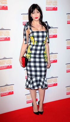Pin for Later: When the Fashion World Throws a Fair, You Know It's Going to Be Fabulous Daisy Lowe donned a playful gingham dress.