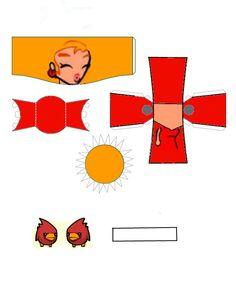Castle Crashers Red Princess paper craft