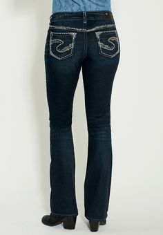 silver jeans co. ™ suki thick stitch and sequin embellished jeans