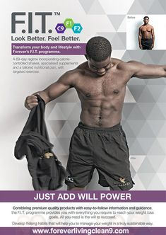Fuel your fitness  Nutrition plays a huge part in sports performance and weight management. Forever's products are designed to provide your body with the fuel it needs to reach its full potential.  Combining premium quality products with easy-to-follow information and guidance, the F.I.T. programme will help you to push your body to the limit. www.foreverlivingclean9.com/