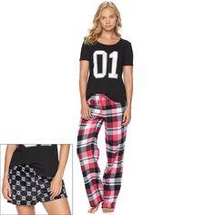 Juniors' SO® Pajamas: Varsity 3-pc. PJ Gift Set