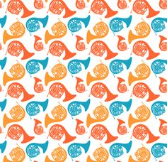 French Horns fabric by marchingbandstuff on Spoonflower - custom fabric