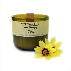 Wine Bottle Candle  Oya 5oz Soy Candle with by GreenIlluminations, $11.98