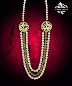PurpleTresor - Beauty - jewelry - statementneckpiece - pearls - beautifuljewelry - royal - Indianjewelry - handcrafted Call Purple Tresor {+91 9810970040} for Costume jewellery, fashion jewellery, kundan polki earings and sets, latest accessories.