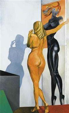 Nudo - Ombra di Allen Jones - Renato Guttuso