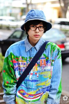 japanese hand-painted denim shirt_tokyofaces