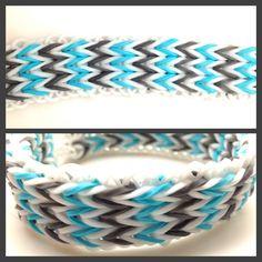 Personalized Photo Charms Compatible with Pandora Bracelets. Triple fishtail Rainbow Loom bracelet