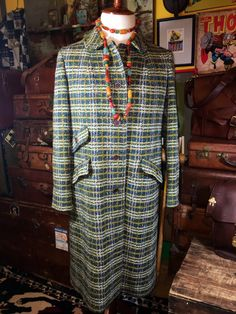 Vintage 1970's Pendleton 100% Wool Green Plaid by TheMaineVintage