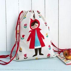Red Riding Hood Drawstring Bag