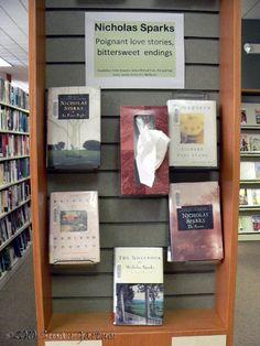 sad book display with tissues. cute idea