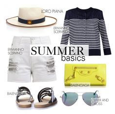 """""""Summer Basics"""" by firstboutique ❤ liked on Polyvore featuring Ermanno Scervino"""