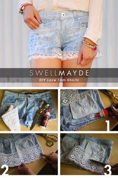 Lace shorts #DIY