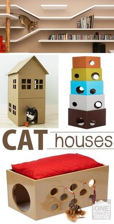 Here are some amazing cat houses for all the Cat Lovers out there- You're cat will be the talk of the neighborhood- | Cats by Patricia
