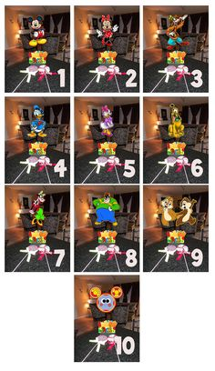 """DIY 12"""" Small Mickey Mouse Birthday Party Centerpieces 1st Birthday Mitzvah Baby Shower Clubhouse Minnie Goofy Donald Centerpiece. $10.00, via Etsy."""