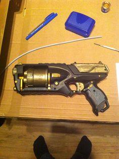 Steampunked nerf gun