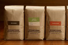 Clean packaging that's cost efficient for Stumptown Coffee by Official Mfg. Co. #Stumptown #omfgco