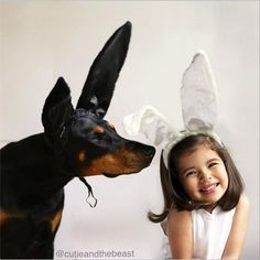 cutie & the beast | ... Buddha. A little kid and her big Doberman.Cutie and the Beast | pt. 2