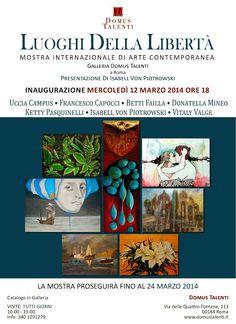 Mostra Internazionale di Arte Contemporanea a Roma,via Quatro Fontane 113 12- 24 marzo 2014 visite;aperto tutti giorni  10.00  -  19.00