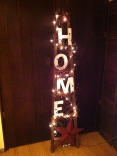Home 6ft Ladder by CoalCountryGathering on Etsy, $65.00