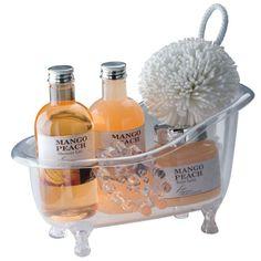 Wellness gift set in a re-usable small acrylic bath tub consisti (PGIFTSJ70284) - Perkal Gift