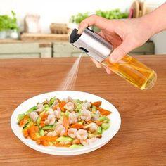 Kitchen Glass Olive Oil Sprayer Oil Spray Empty Bottle Vinegar Bottle Oil Dispenser for Cooking Salad BBQ Kitchen Baking Bbq Kitchen, Glass Kitchen, Kitchen Tools, Kitchen Gadgets, Kitchen Upgrades, Kitchen Utensils, Kitchen Knives, Kitchen Ideas, Cooking With Olive Oil