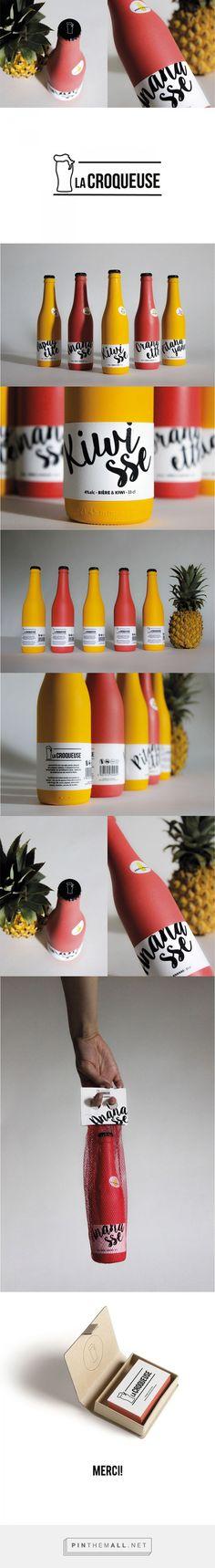 Bière la Croqueuse - Édition limitée by Annédith Lacharité  Plus de découvertes sur Le Blog des Tendances.fr #tendance #packaging #blogueur