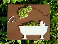 dcoration en lichen pour la salle de bain tableau vgtal le plongeur - Photo Pour Salle De Bain Tableau