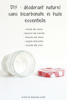 Ma recette de déodorant naturel sans bicarbonate ni huile essentielle pour les peaux sensibles