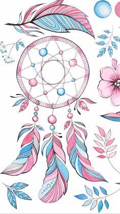 Cute Wallpaper Backgrounds, Pretty Wallpapers, Galaxy Wallpaper, Dream Catcher Drawing, Dream Catcher Tattoo, Locked Wallpaper, Cellphone Wallpaper, Dream Catcher Wallpaper Iphone, Dreamcatcher Wallpaper